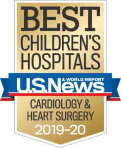 U.S. News Best Children's Hospital Cardiology Badge