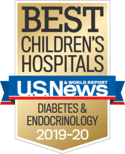 U.S. News Best Children's Hospital Diabetes Badge