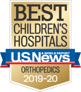 U.S. News Best Children's Hospital Orthopedics Badge
