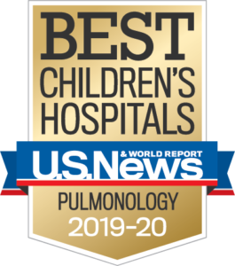 U.S. News Best Children's Hospital Pulmonology Badge
