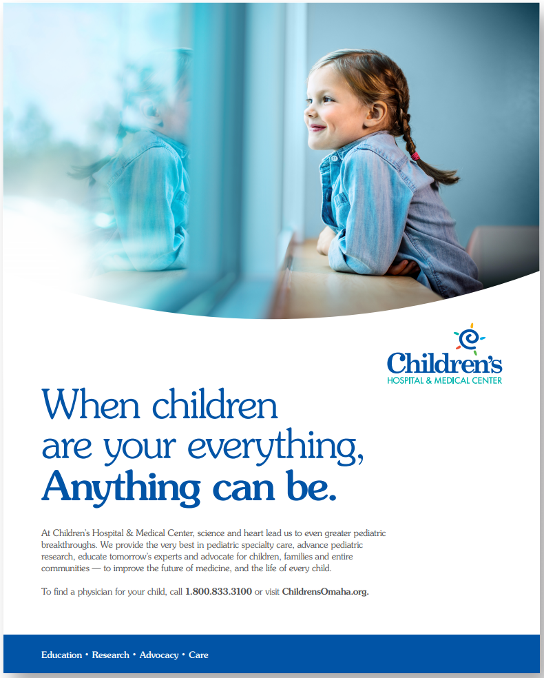 ad with little girl