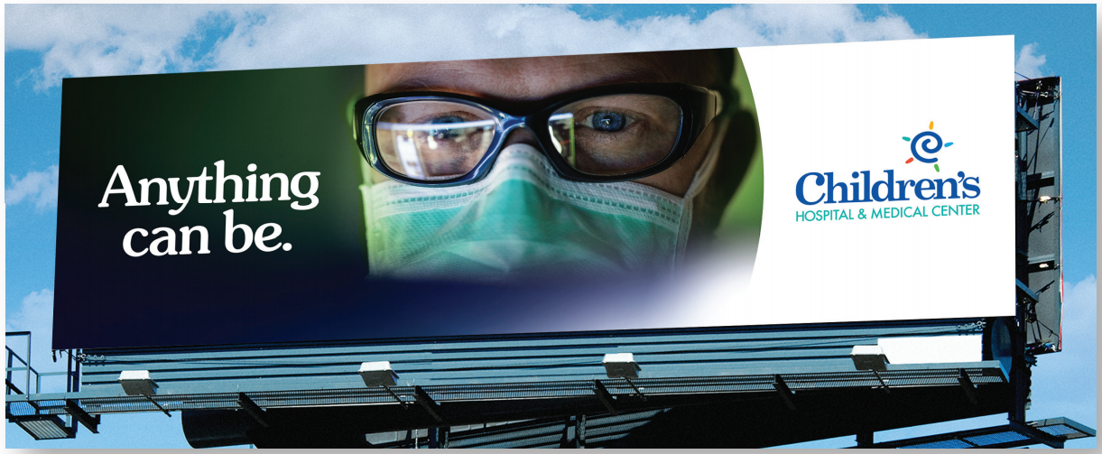 billboard with doctor