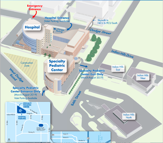 children's hospital & medical center campus map