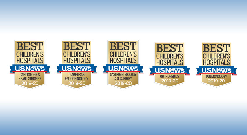 Best children's hospitals badges