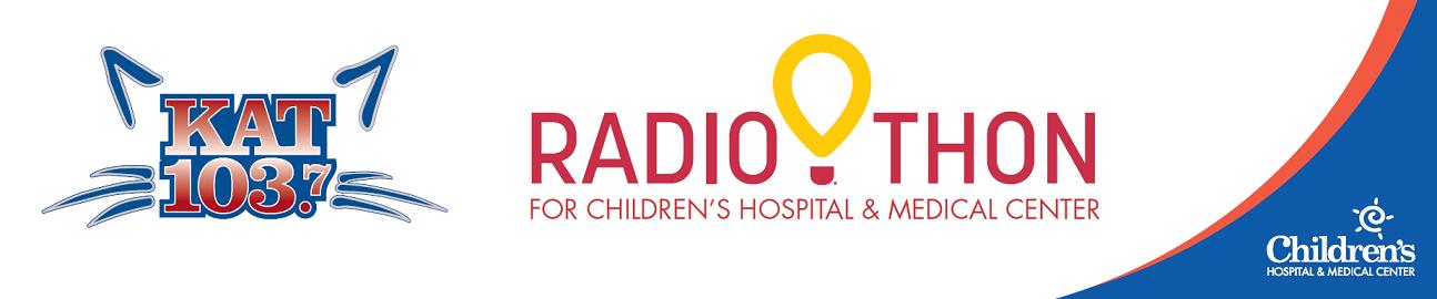 banner showing kat 103 logo and radiothon logo