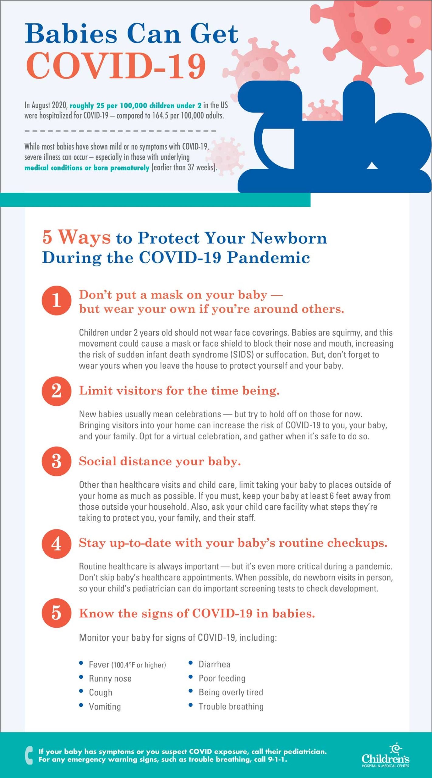 infographic about newborns and COVID