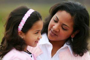 Parent consoling child